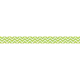 LIME GREEN CHEVRON BORDER