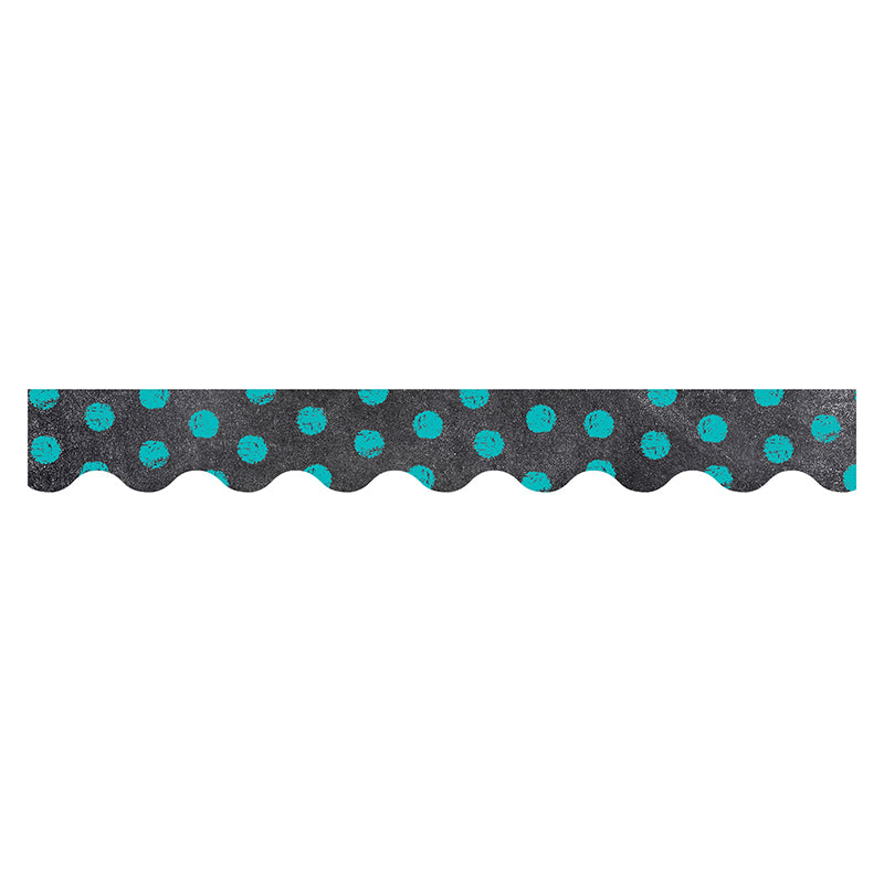 DOTS ON CHALKBOARD TURQUOISE