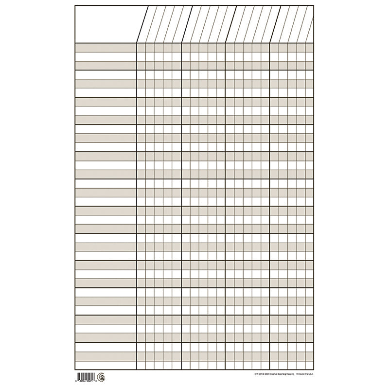 CHART INCENTIVE SMALL WHITE 14 X 22