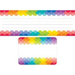 (3 ST) RAINBOW NAME PLATE LABEL