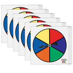 (6 ST) SIX-COLOR SPINNERS PER SET