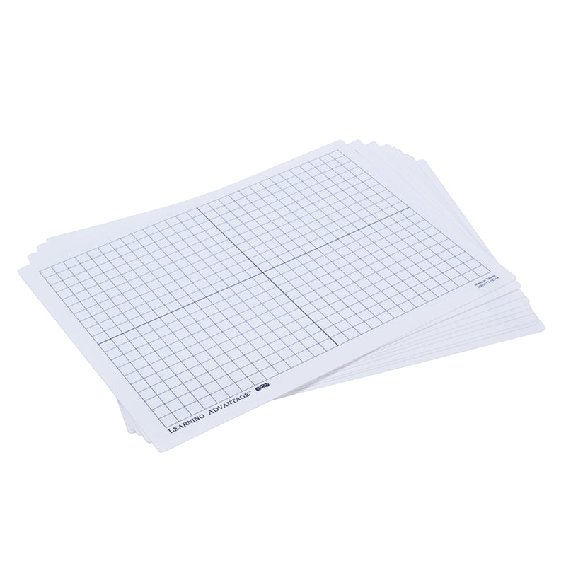XY AXIS DRY ERASE BOARDS SET OF 10