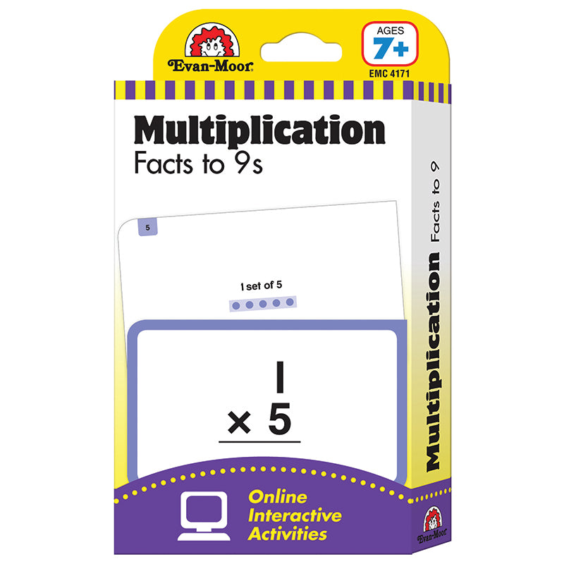 FLASHCARD SET MULTIPLICATION FACTS