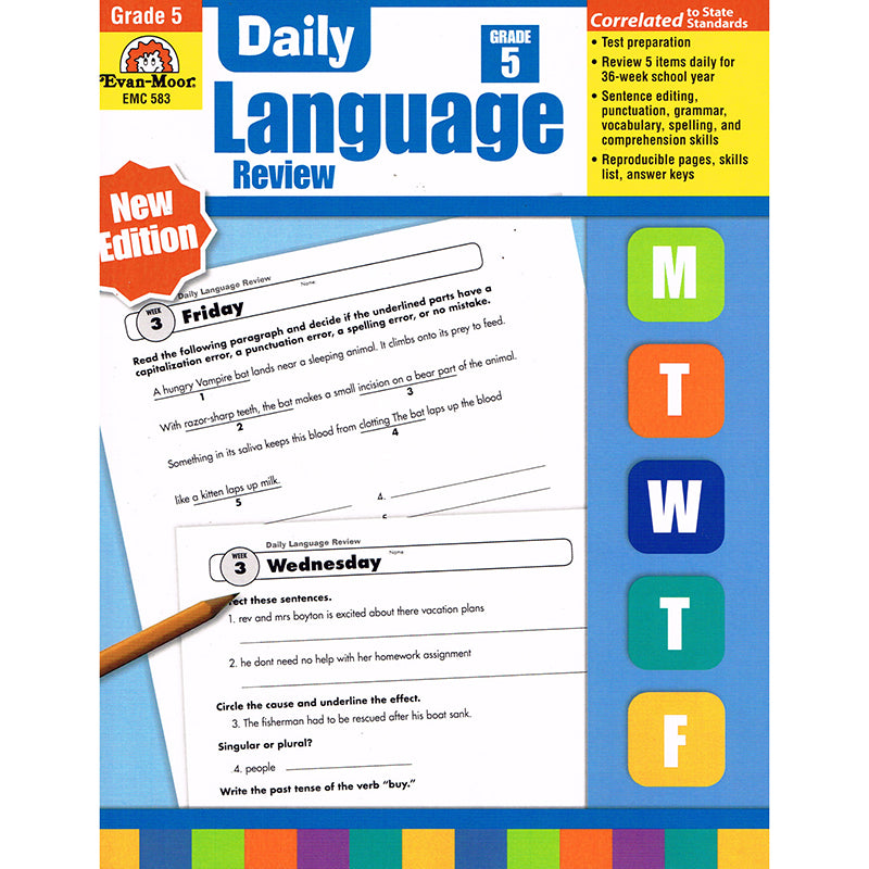 DAILY LANGUAGE REVIEW GR 5