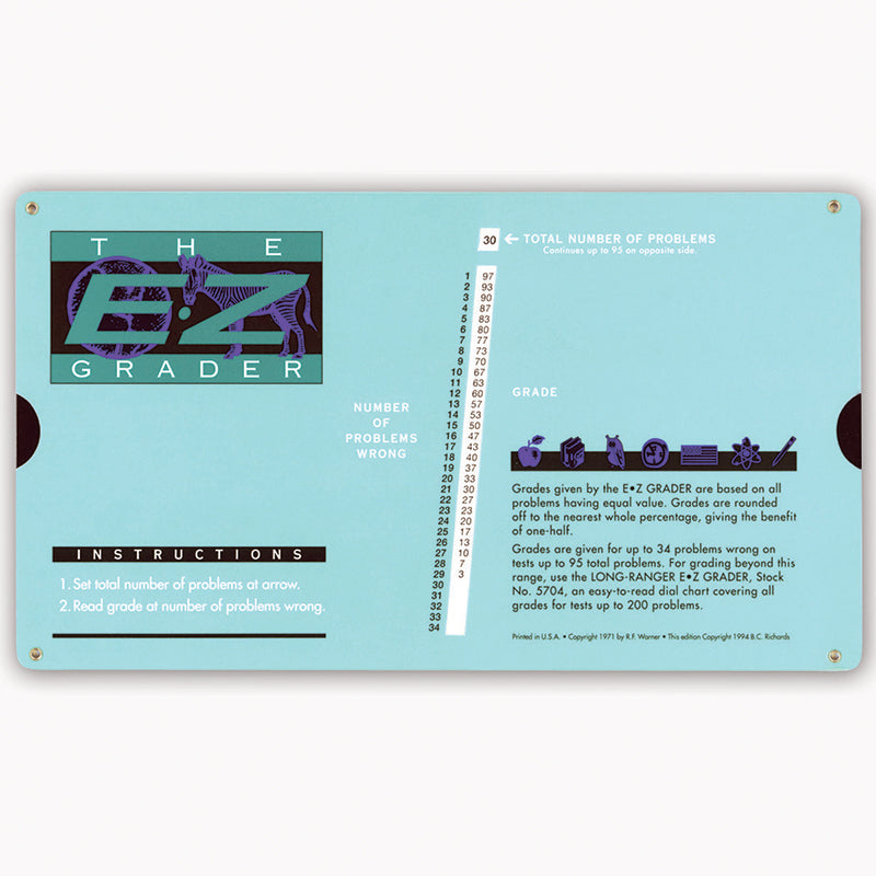 E-Z GRADER RECTANGLE SHAPED SCORE