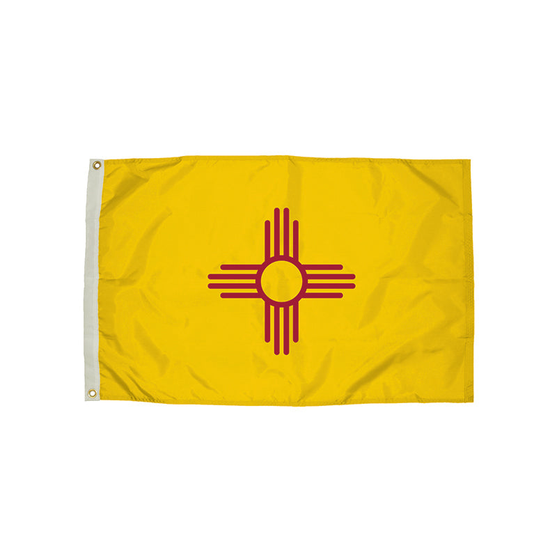 3X5 NYLON NEW MEXICO FLAG HEADING &
