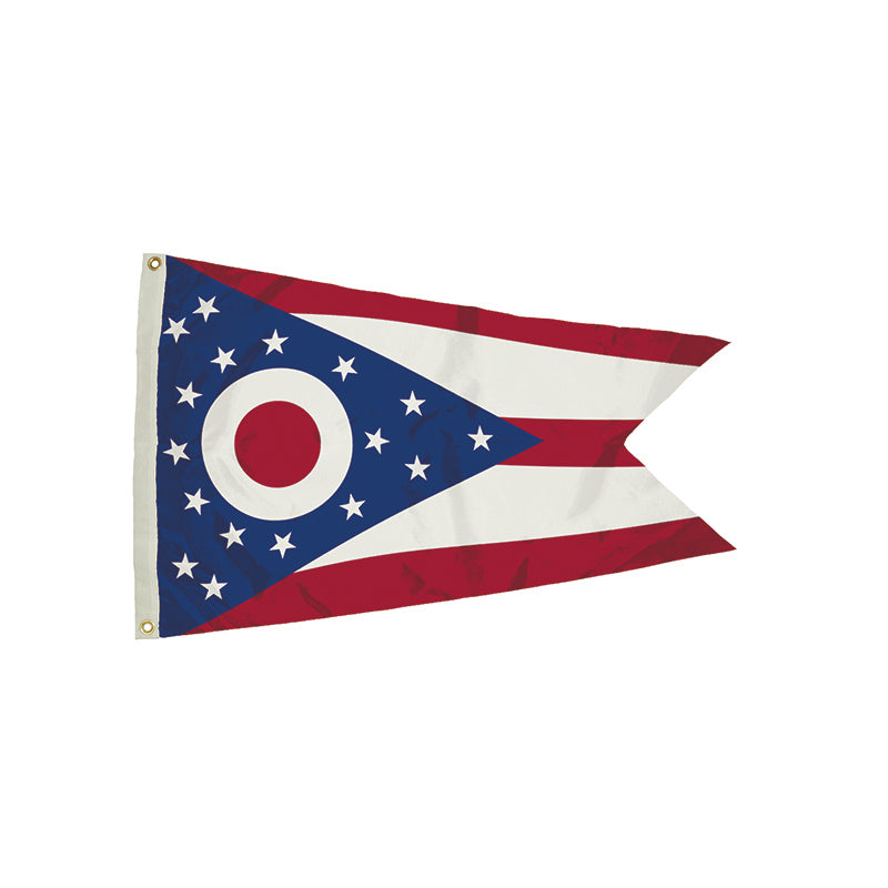 3X5 NYLON OHIO FLAG HEADING &