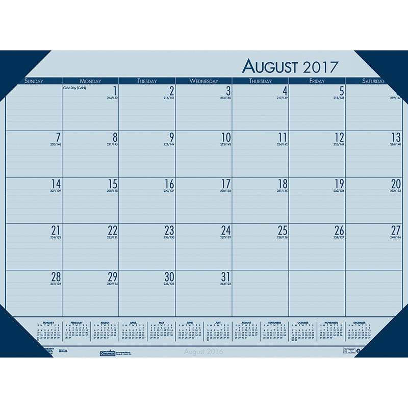ACADEMIC ECOTONES DESK PAD BLUE