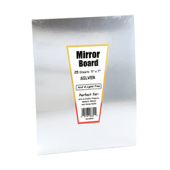(4 EA) MIRROR BOARD 25 5X7 SHEETS