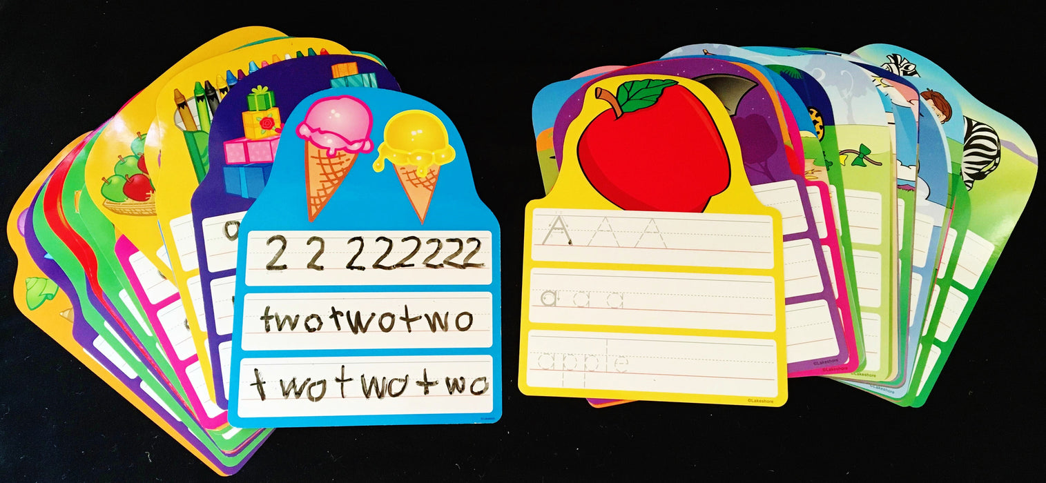 Write and Wipe Cards- Letters & Numbers