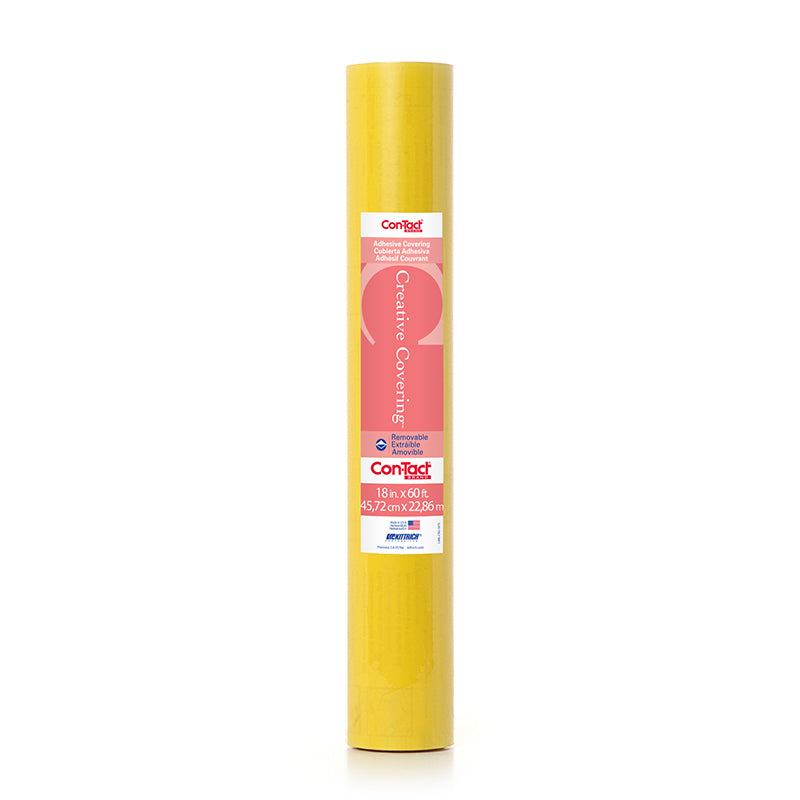 CONTACT ADHESIVE ROLL YLW 18X60FT