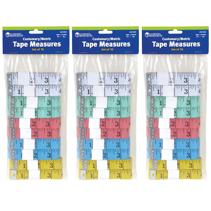 Learning Resources Two Sided Measuring Tape Set of 10