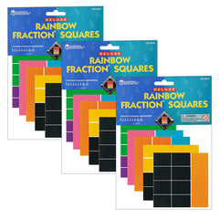 (3 EA) DELX RAINBOW FRACTION SQUARE