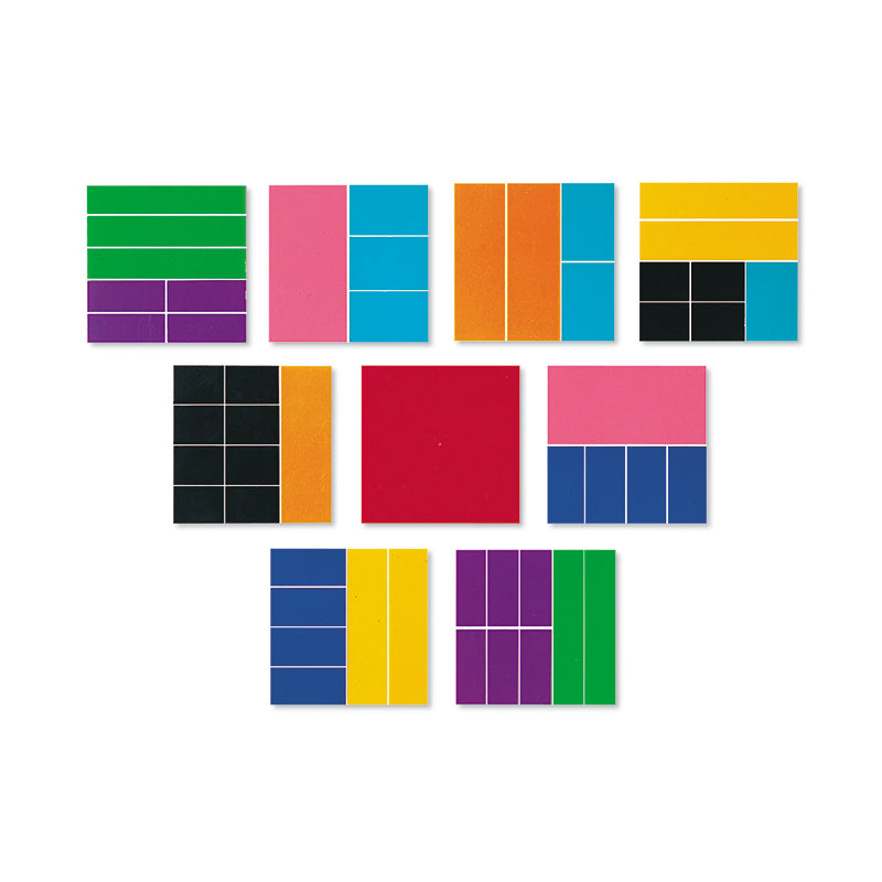 DELX RAINBOW FRACTION SQUARES 51/PK