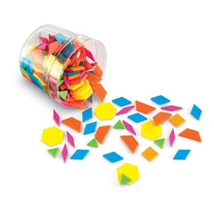 PLASTIC PATTERN BLOCKS BRIGHTS