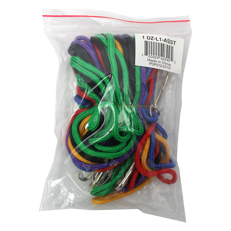 LANYARDS ASSORTED PACK OF 12