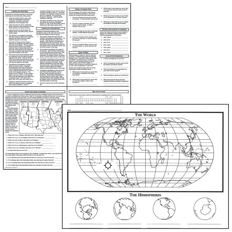 ACTIVITY POSTERS BASIC MAP SKILLS