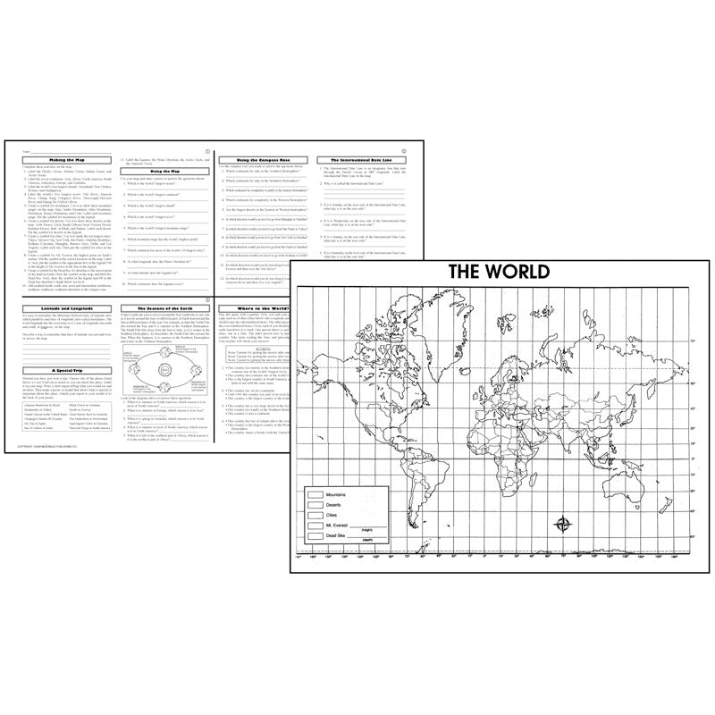 ACTIVITY POSTERS THE WORLD 30/SET