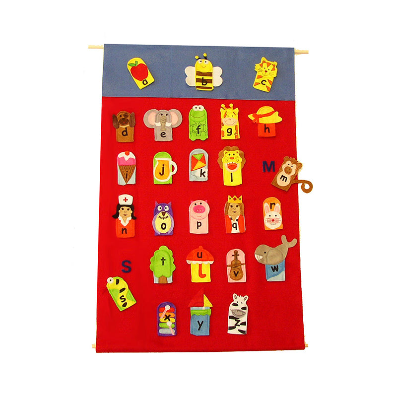 ALPHABET FINGER PUPPETS & WALL
