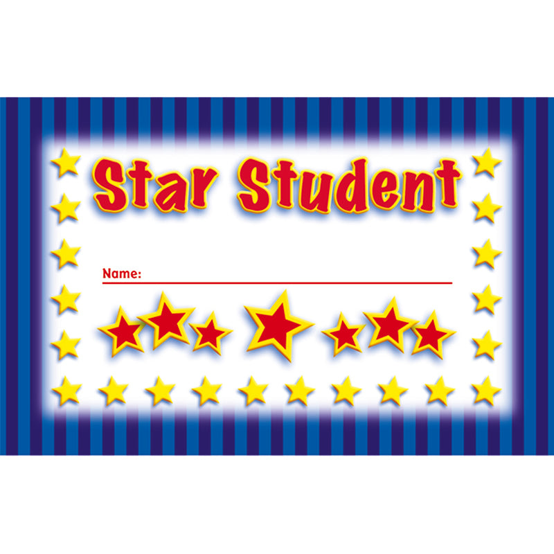 INCENTIVE PUNCH CARDS STAR STUDENT