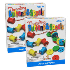 (2 PK) THREADING BUTTONS & SPOOLS
