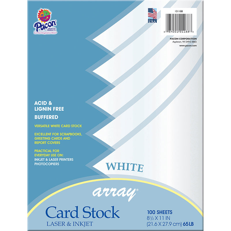 (2 PK) ARRAY CARD STOCK WHITE