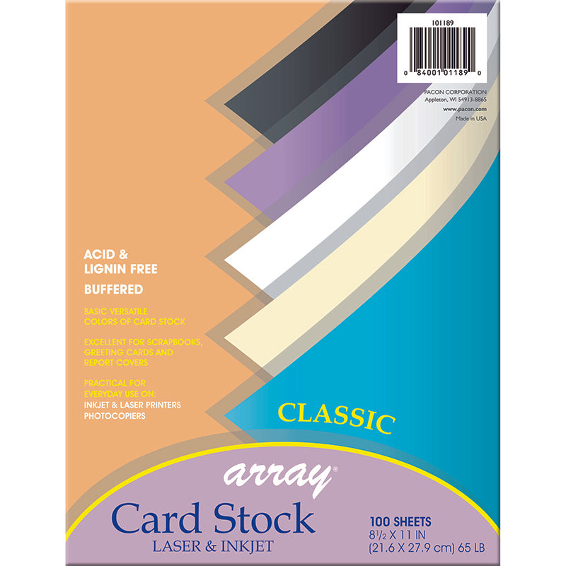 ARRAY CARD STOCK CLASSIC COLORS 100