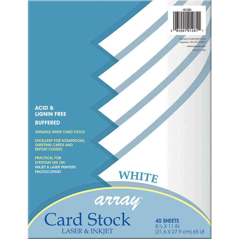 (6 PK) WHITE CARD STOCK