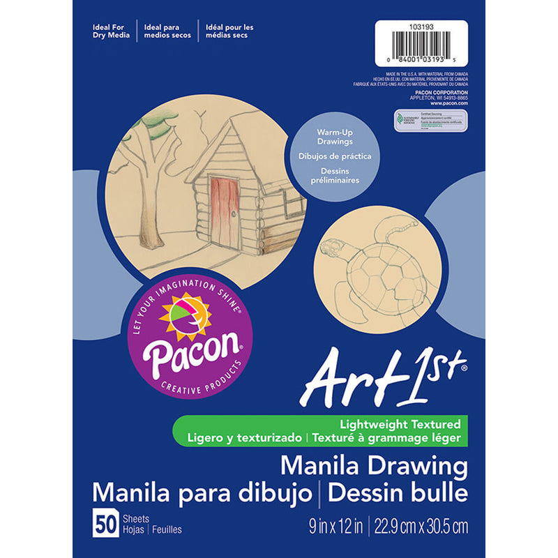 CREAM MANILA DRAWING PAPER 9 X 12