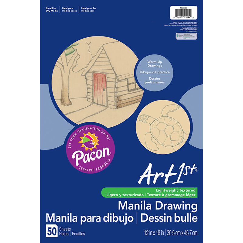 CREAM MANILA DRAWING PAPER 12 X 18