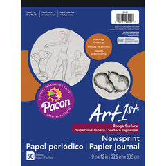 ART1ST NEWSPRINT PAD 9X12 50 SHT