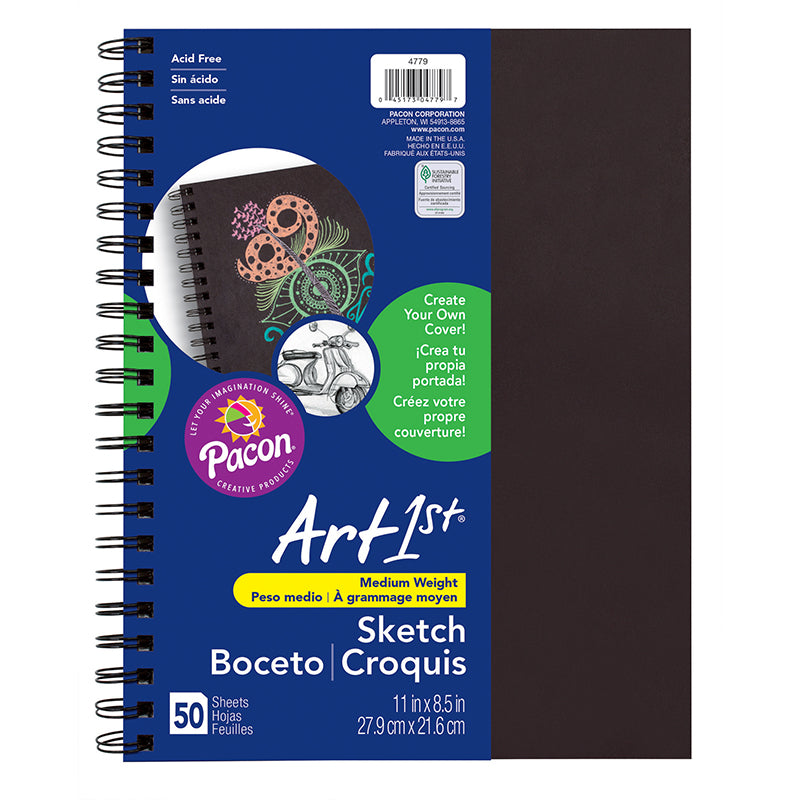 SKETCH DIARY CHIP COVER 11X8.5 BLK