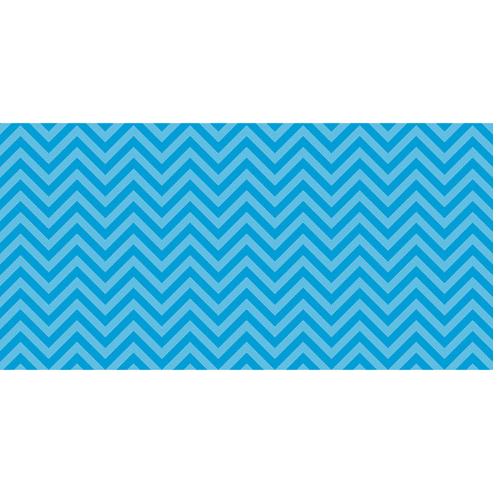 FADELESS 48X50 AQUA CHEVRON DESIGN