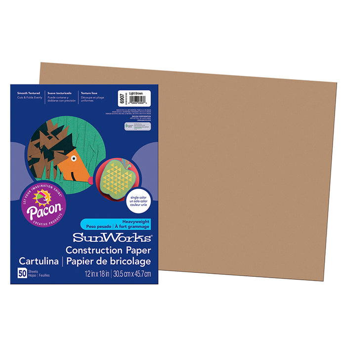 CONSTRUCTION PAPER LITE BROWN 12X18