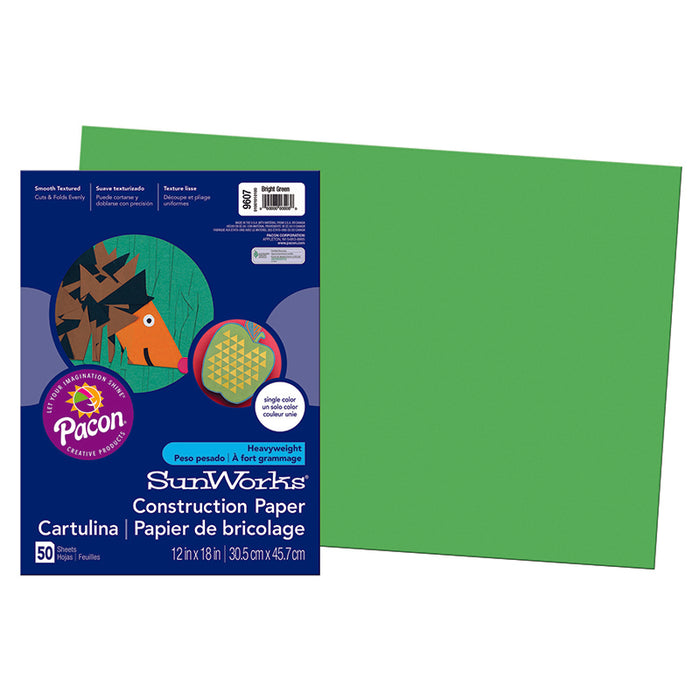 SUNWORKS 12X18 BRIGHT GREEN 50CT