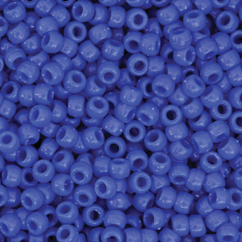 (3 PK) PONY BEADS BLUE 1000 PIECES