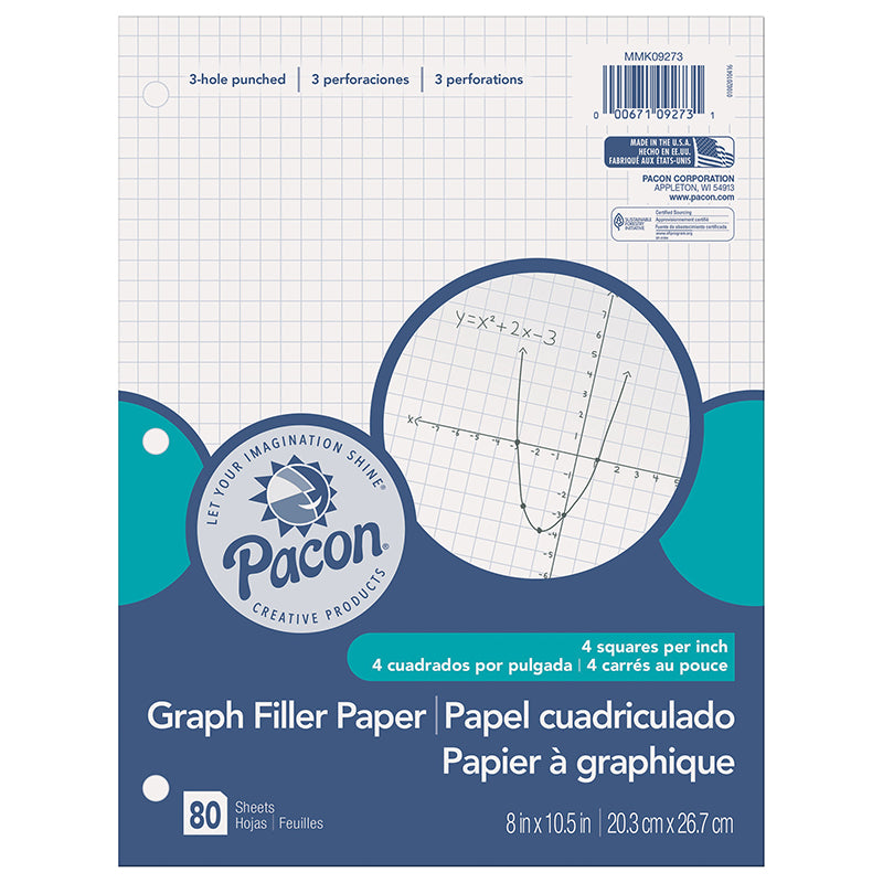 GRAPH PAPER 1/4IN GRID RULING