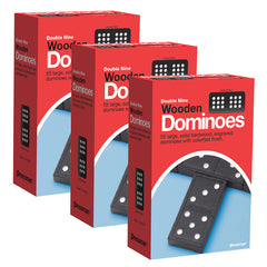 (3 EA) DOUBLE NINE DOMINOES