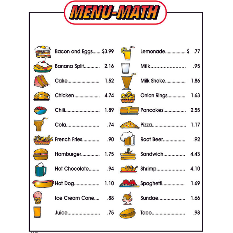 MENU MATH FOR BEGINNERS 6PK EXTRA