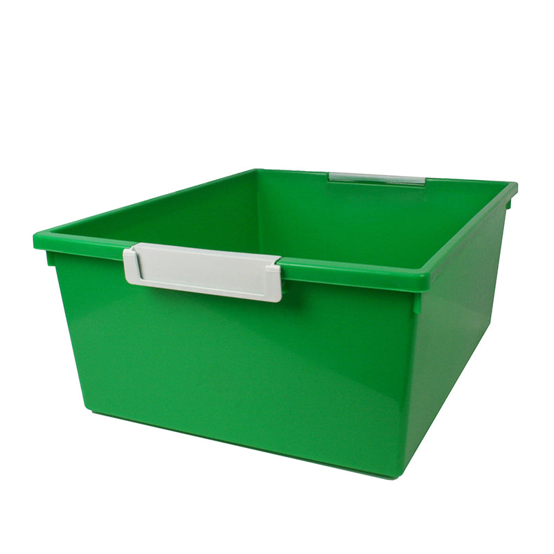 12QT GREEN TATTLE TRAY W LABEL HOLD
