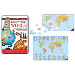(2 ST) TIN SET DISCOVER THE WORLD