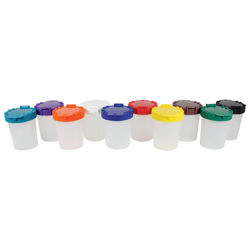 10CT NO SPILL PAINT CUP ASSORTMENT