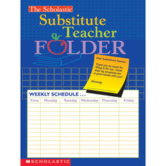 (10 EA) SUBSTITUTE TEACHER FOLDER