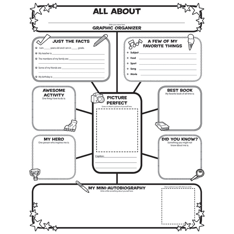 All about me web graphic organizer pass the apple all about me web graphic organizer ccuart Choice Image