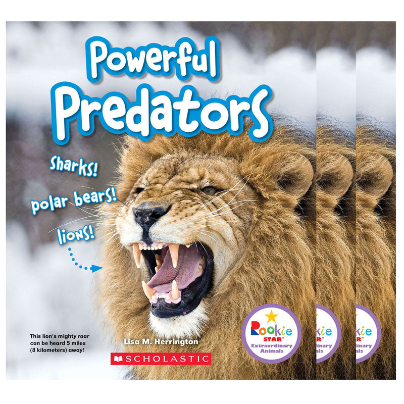 (3 EA) POWERFUL PREDATORS BOOK