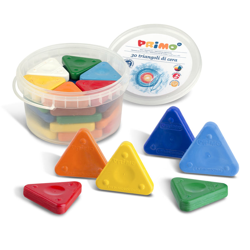 PRIMO TRIANGLE CRAYONS 30PC TUB