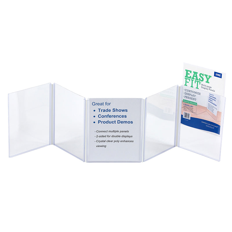 CLEAR DISPLAY PANELS 5 COUNT PANELS