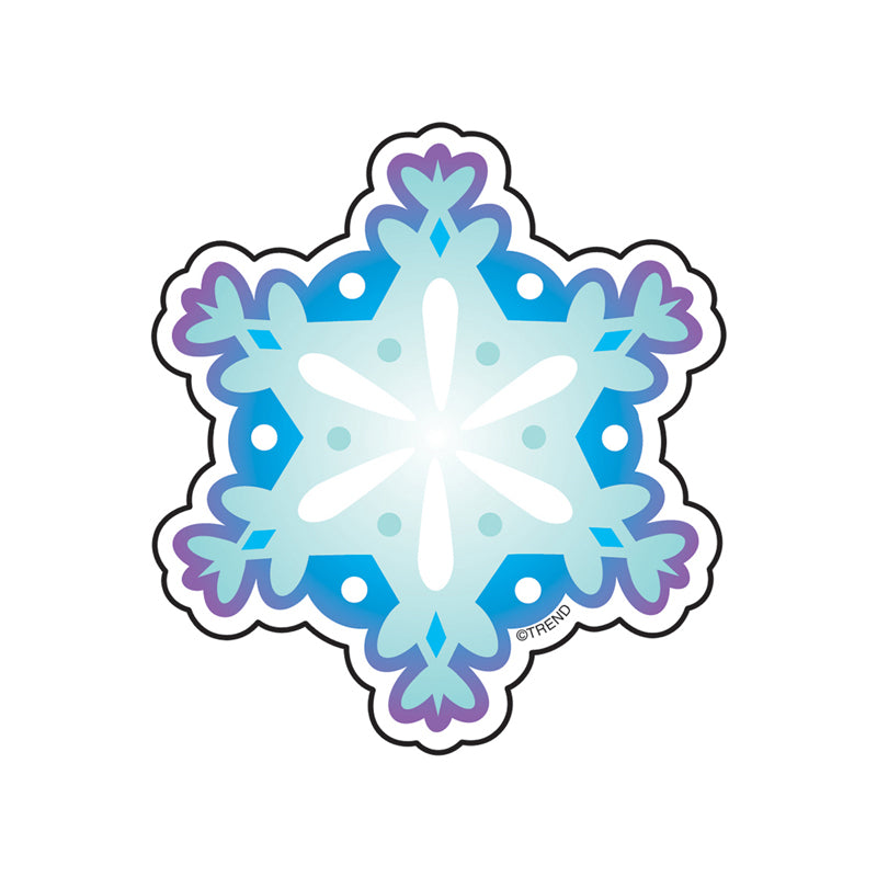 (12 PK) MINI ACCENTS SNOWFLAKE 3IN