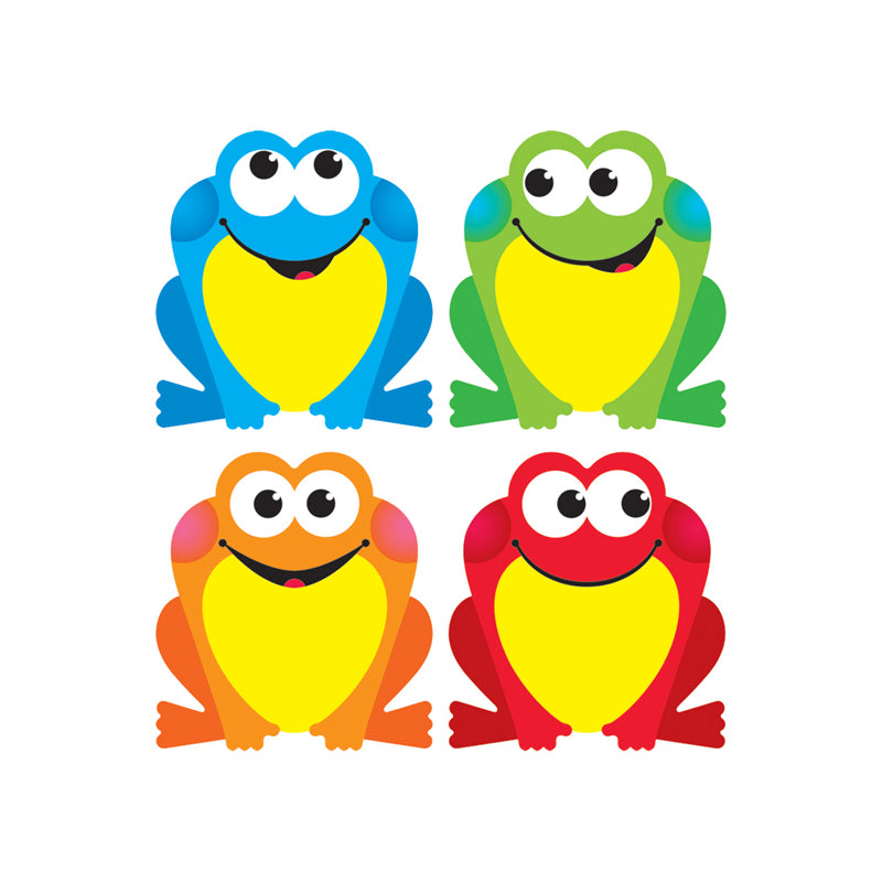 (6 PK) COLORFUL FROGS MINI ACCENTS