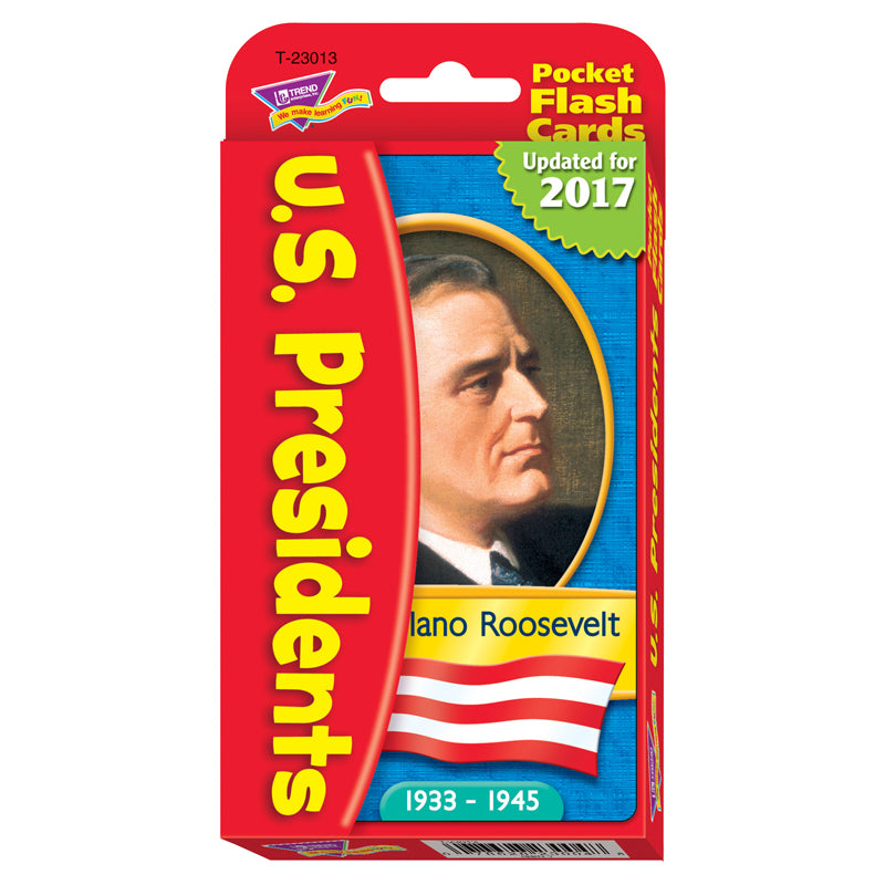 (3 EA) POCKET FLASH CRDS PRESIDENTS